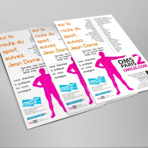 """Fête des clubs : les flyers et affiches """"Sur la route des sports"""""""